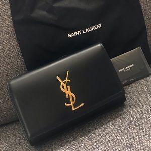 YSL Kate Leather Belt Bag Black
